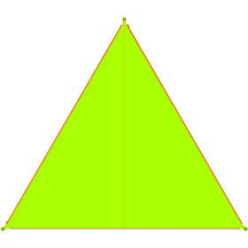 Bent Canvas Plain Lona Individual, verde